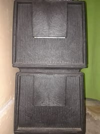 Stackable heavy plastic drawers