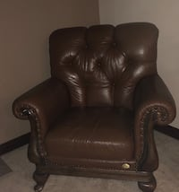 brown leather padded sofa chair Edmonton, T6T 0C9