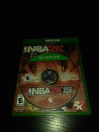 Xbox One NBA 2K15 game disc with case Tullahoma, 37388