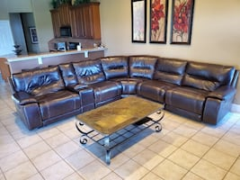Plush Leather Recliner electric control