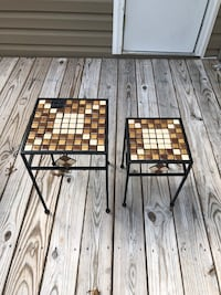 Small mosaic end tables  Virginia Beach, 23453