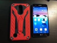 AT&T LG K20 with red phone case