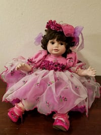 girl doll in pink and white floral dress Chelan, 98816