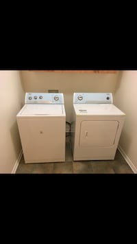 white washer and dryer in great condition