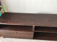 Brown tv stand with one drawer Mississauga, L5B 3C9