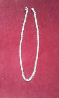 Ladies Nice Sterling Silver Braided Necklace