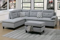 Brand New Grey Sectional Sofa +Storage Ottoman  Silver Spring, 20910