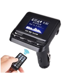 Bluetooth Wireless Radio Adapter Audio Receiver Stereo Music Tuner Modulator Car Kit with USB Charger Remote Control 歐文, 92606