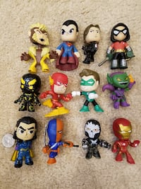 Assortment of (12) DC & Marvel Mystery Mini Collectables  Springfield