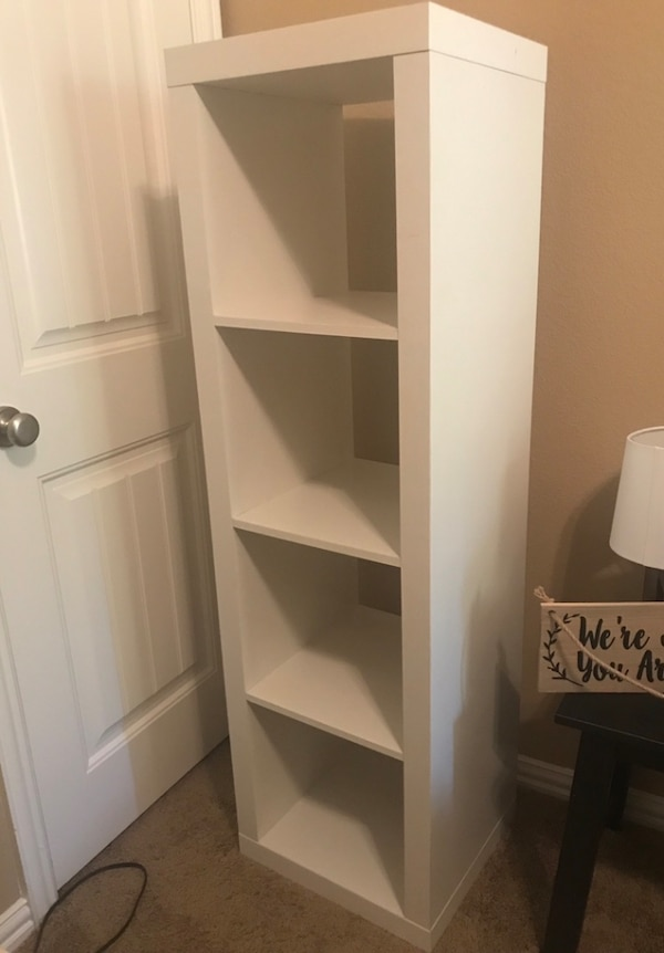 White Bookshelf Storage Holder