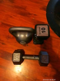 gray 20 lbs dumbbells Los Angeles, 90044