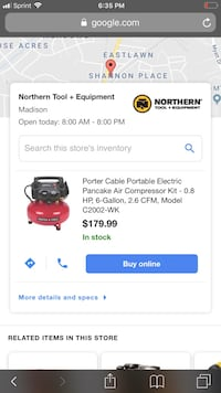 Porter cable air compressor never used Gallatin, 37066