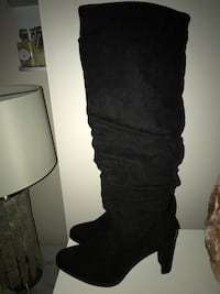 Gorgeous black knee high boots brand new size 9 retail $286+tax