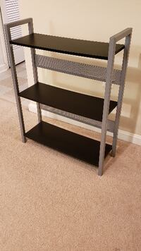 Black and Gray heavy duty metal rack/shelf HERNDON