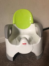 white and green Fisher-Price potty trainer Sacramento, 95834