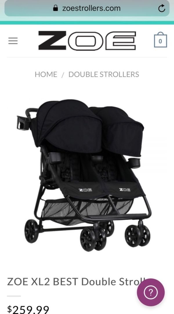 Zoe Xl2 Double Stroller In Black