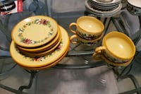 Ceramic tea cup and plate set $5 Kitchener, N2M 3N5