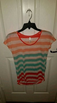 red and blue stripe scoop-neck shirt Fort Worth, 76177
