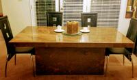 Blood Marble Dining Table/ Excellent Cond Palm Desert