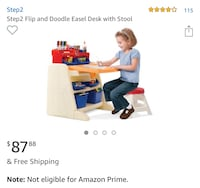 Step2 Flip and Doodle Easel Desk with Stool Stafford, 22556