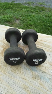 two 10lbs black Weider fixed weight dumbbells Middletown, 21769