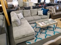 Light Gray sectional with Chase and pillows Jacksonville, 32246