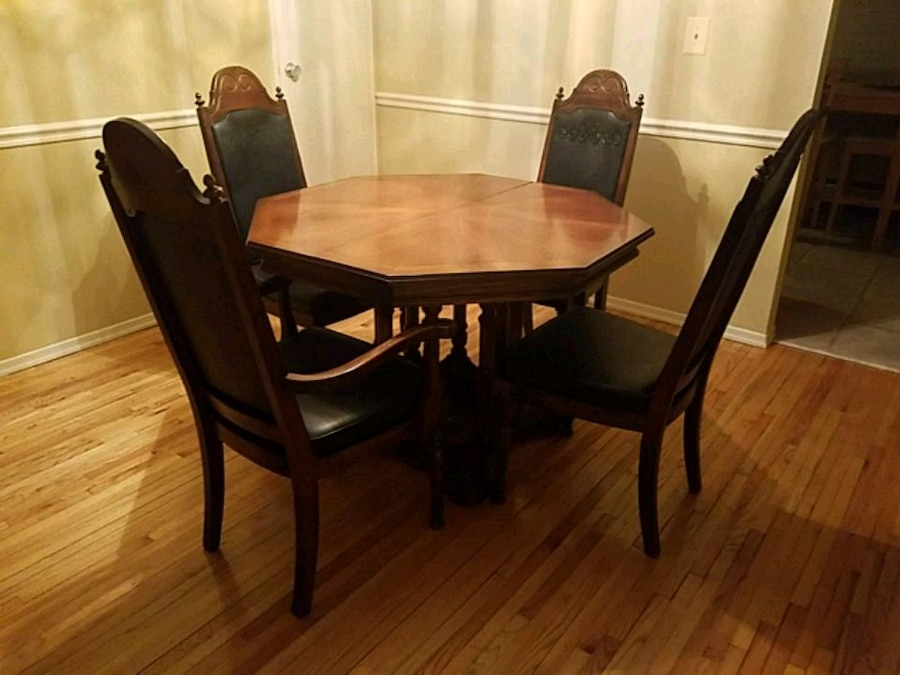 All Wood Dining Table With 6 Chairs