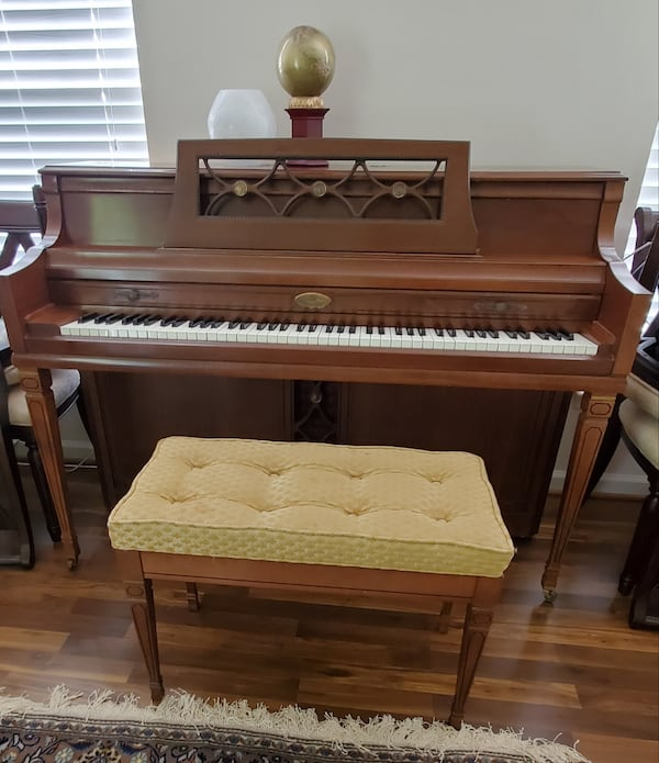 "42"" Wurlitzer Upright Piano with Bench 829f0493-fc6d-4491-b8a1-923e8e6c4458"