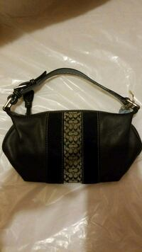 black and brown leather hobo bag Dumont, 07628