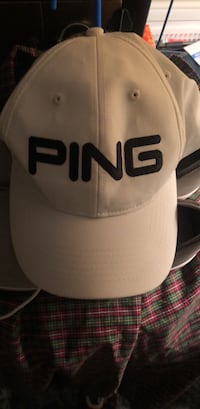 white and black fitted cap Springfield, 22152