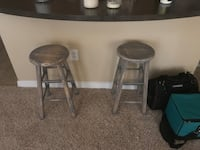 2 wooden, rustic, weathered grey stools Houston, 77032
