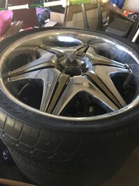 Gray 6-spoke vehicle wheel and tire Kissimmee, 34758