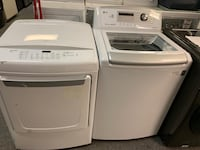 LG top load washer dryer set good working condition with warranty  Woodbridge, 22191