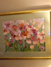 white, pink, and green flower painting St. Petersburg