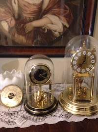 black and gold mantle clocks