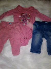 toddler's pink and blue pants