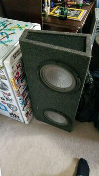 black and gray subwoofer speaker Edmonton, T5P 3E2