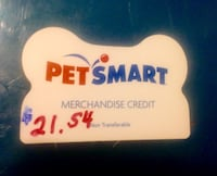 Pet Smart Gift card CREDIT*VALID=$21.54/Get 16% Off, Pay $18, Get $3.54 Free San Diego, 92131