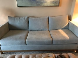 Tiffany blue couch