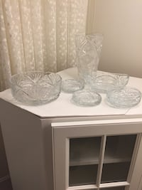 Clear crystal cut glass containers Fairfax, 22030