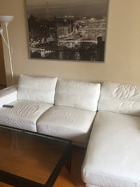 White leather couch . Port Coquitlam, V3C 5C4