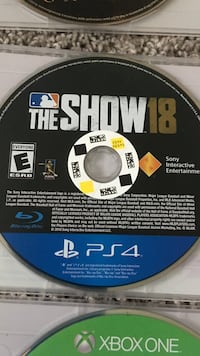 Sony ps4 the show 18 game disc