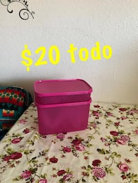 two pink and purple plastic containers Fresno, 93702