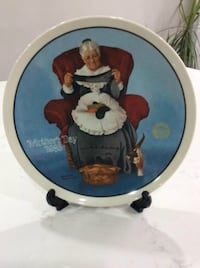 Norman Rockwell Collector Plate Milton