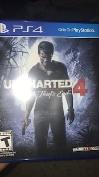 Uncharted 4 PS4 game case Arlington, 22204