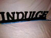 """Wooden """"INDULGE"""" decorative sign New Orleans, 70130"""