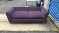 purple micro suede couch