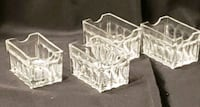 4 Glass Condiment Table Holder