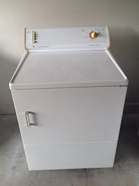 white front-load clothes dryer Houston, 77036