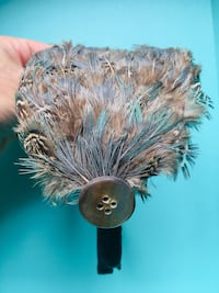 Feather Fascinator Headband - Blue and Brown Feathers with Button Accent Toronto, M1E 3V4